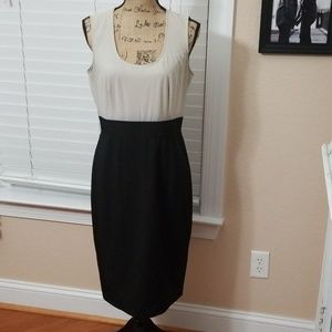 Calvin Klein two tone dress size 10